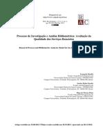 Processo de Investigação e Análise Bibliométrica Avaliação da