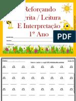 Reforçando Escrita  Leitura e interpretação
