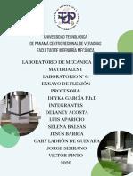 Informe laboratorio flexion