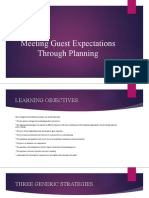 Meeting guest expectations through planning ppt 2