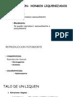 Part II. REPRODUCCION- HONGOS LIQUENIZADOS