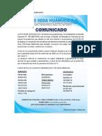 COMUNICADO SEDA 5