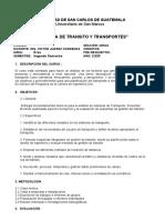 Programa Ingeniería de Transito y transportes