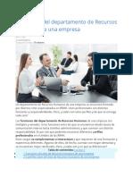 11 perfiles del departamento de Recursos Humanos de una empresa
