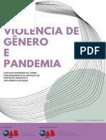 VIOLÊNCIA DE GÊNERO E PANDEMIA