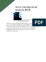 Como saber la velocidad de la momeria ram