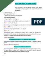 ALGUNO DE LOS DÍALOGOS EN EL BAUTISMO