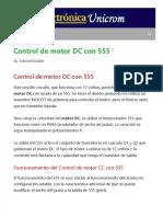 Control de motor DC con 555 - Electrónica Unicrom.pdf