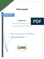 Tarea Grupal Mercadotecnia 1 Grupo 5