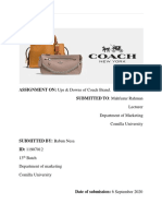 Ups & Downs of Brand Coach Assignment