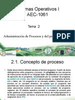 Sistemas Operativos Unidad 2 - 2.1