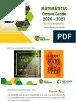 Actividad Diagnóstica 2020 - 2021 Matemáticas 8° Grado Urbano RH+