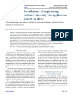 Evaluation of the efficiency of engineering courses in a Brazilian University