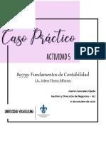 CASO PRÁCTICO ASIENTOS CONTABLES