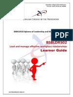 BSBLDR502 Learner Guide