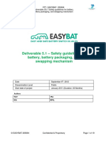 Deliverable 5.1 – Safety Guidelines for Battery, Battery Packaging and Swapping Mechanism
