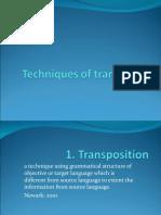 technique of translation