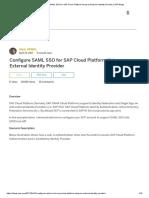 Configure SAML SSO for SAP Cloud Platform Using an External Identity Provider _ SAP Blogs.pdf