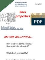 1. Introduction to reservoir rock properties