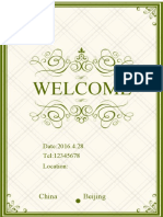 Green Pattern Invitation-WPS Office