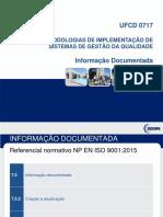 UFCD0717 - Parte 4 Informação Documentada