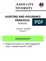 Session 7 - AUDITING AND ASSURANCE PRINCIPLES