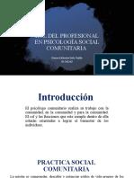 ROL DEL PROFESIONAL EN PSICOLOGÍA SOCIAL COMUNITARIA