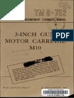 TM 9-752 3-Inch Gun Motor Carriage M10 11-1943