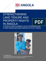 2007 USAID - Strengthening Land Tenure Property Rights in Angola REPORT