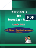8th class with lesson plans