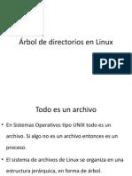 Árbol de directorios en Linux