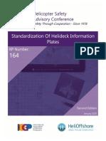 HSAC RP Nbr 164 -Standardization of Helideck Information Plates - 2nd Edition