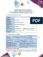 Guía de actividades y rúbrica de evaluación - Tarea 1 - Conceptualización de estimulación adecuada