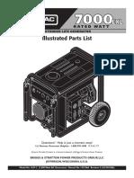 Generac 7000EXL Illustrated parts List
