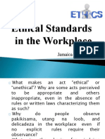 Ethical Standards in the Workplace