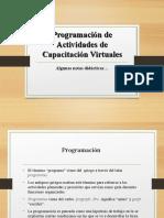 Programacion de e learning