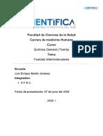 Fuerzas Intermoleculares - Química General