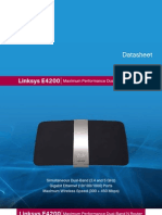 Linksys E4200 DataSheet simultaneous dual-band Wireless-N router