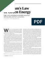 Gresham's Law of Green Energy