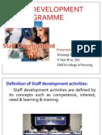 selvi STAFF DEVELOPMENT programme