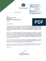 CARTA DEL GOBIERNO AL TSE