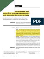 Estrategia de educación popular para promover la participación comunitaria en la prevención del dengue- CUBA
