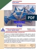 Calculo Estructural - Modulo II - Tema 3 - Predimensionado de Vigas.pptx