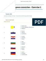 Flags of European countries - Exercise