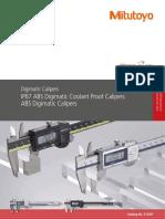 Mitutoyo - Suwmiarki elektroniczne Coolant Proof IP67 i AOS - E12047 - 2020 EN