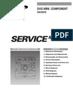 SAMSUNG  DVD MINI COMPONENT MAX-945D