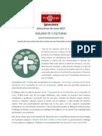 CVPI, 2017, Junio - Diálogo Fe y Culturas
