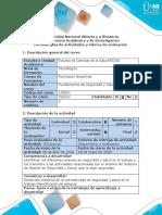 Guía de actividades y rúbrica de evaluación - Tarea 4 Reporte final