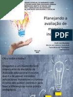 Slide com Conteúdo 3 - Planejando avaliação de forma inovadora
