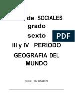 SOCIALES   6 GRADO 3 Y 4 PERIODO